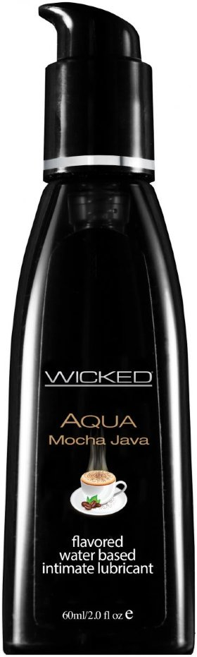 Лубрикант с ароматом кофе мокко Wicked Aqua Mocha Java - 60 мл.
